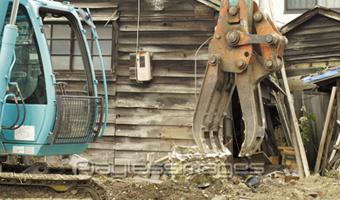 家屋解体の施行例